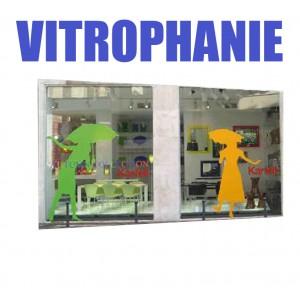 Sticker Adhésif Vinyle Vitrophanie grand format
